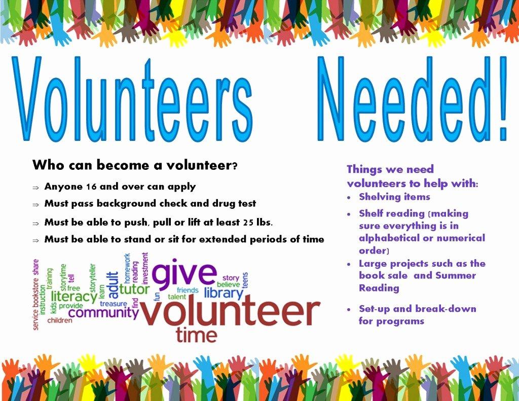 Volunteer Flyer Template Free Elegant Volunteers Needed