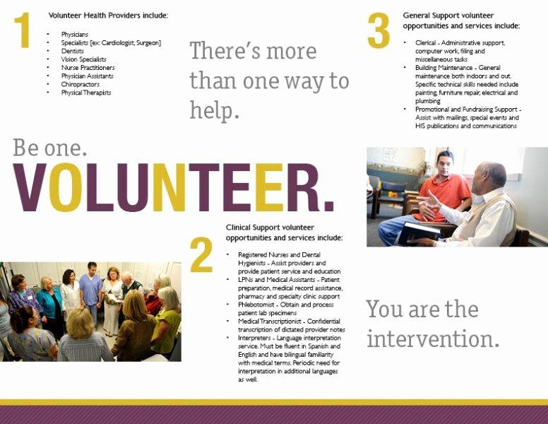 Volunteer Flyer Template Free Luxury Volunteer Brochure Examples Exclusiveinternetdirectory