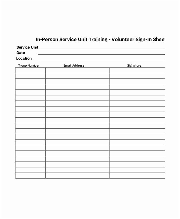 Volunteer Hours form Template Best Of Volunteer Sign In Sheet Templates 14 Free Pdf Documents