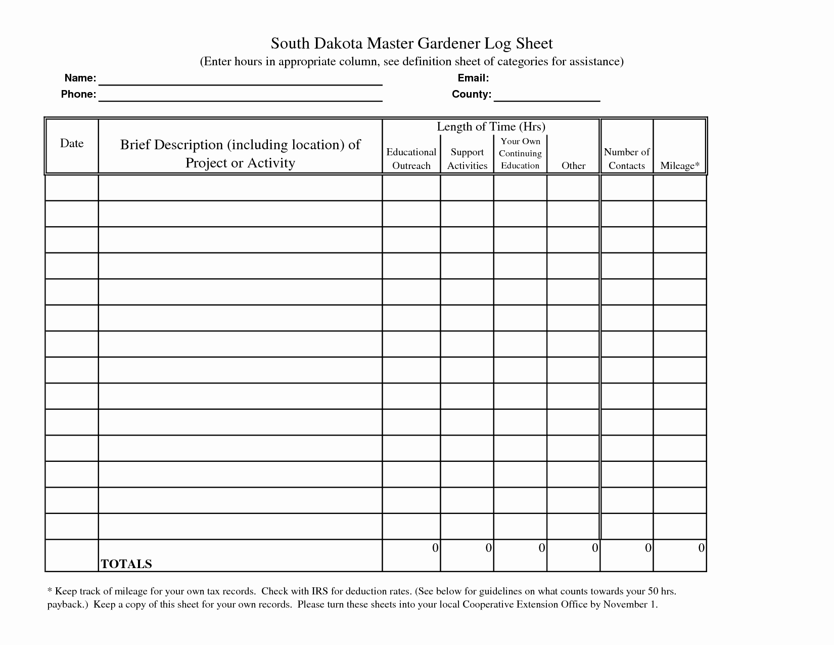 Volunteer Hours form Template New 7 Best Of Printable Hours Log Volunteer Hours Log