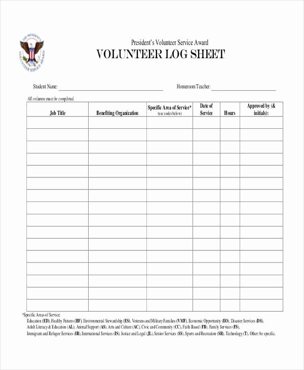 Volunteer Hours Log Template Beautiful 46 Printable Sheet Samples & Templates