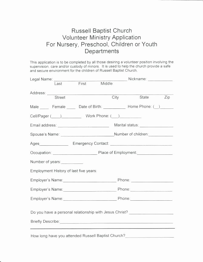 Volunteer Interest form Template Fresh Volunteer Interest form Template Gallery Volunteer form