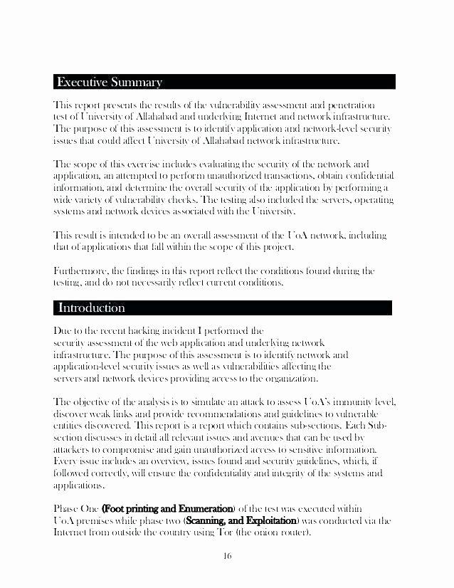 Vulnerability assessment Report Template Awesome Needs assessment Report Template Educational Equipment