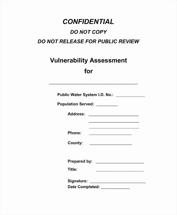 Vulnerability assessment Report Template New 10 Vulnerability assessment Templates Pdf Doc