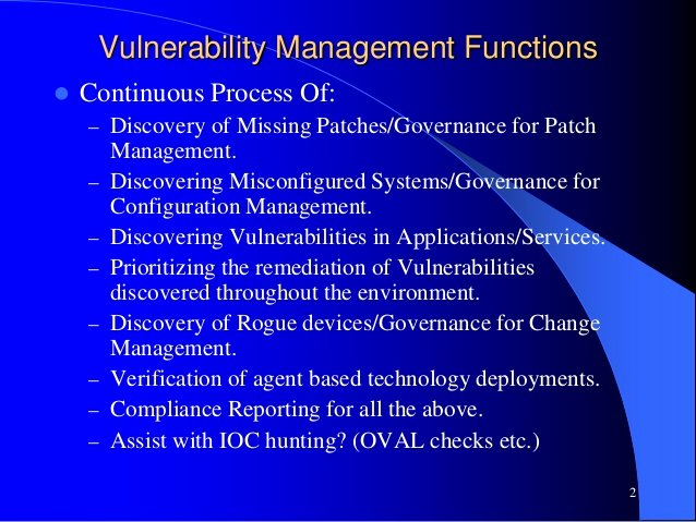 Vulnerability Management Program Template Elegant Implementing Vulnerability Management