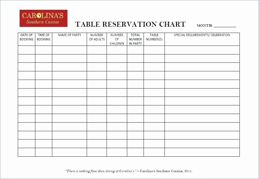 Waiting List Template Excel Unique Restaurant Reservation Log Template form Free – Tangledbeard
