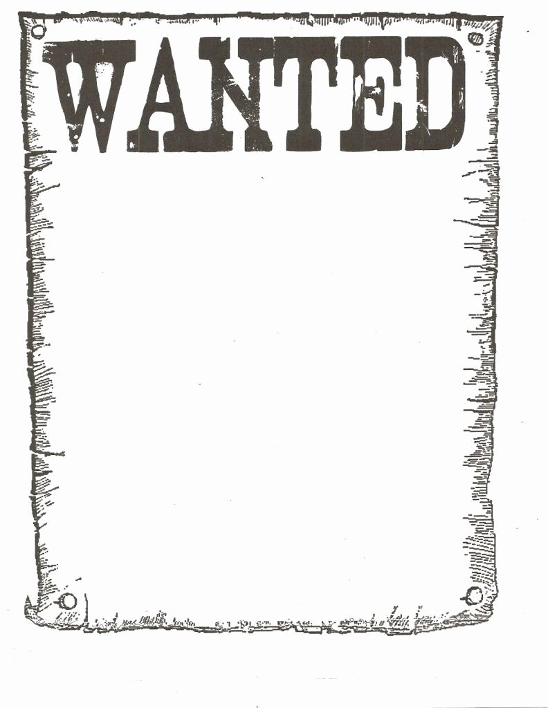 Wanted Poster Template Free Awesome Wanted Poster Template for Kidsclassroom