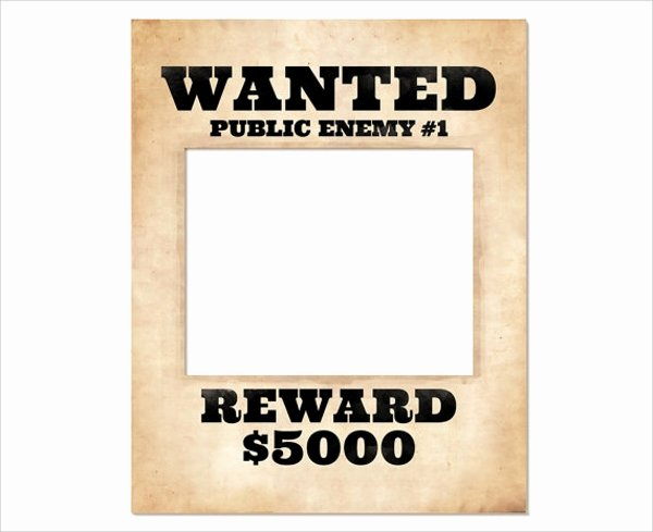 Wanted Poster Template Free Beautiful 20 Free Wanted Poster Templates to Download