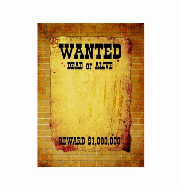 Wanted Poster Template Free Beautiful Wanted Poster Templates Word Templates Docs