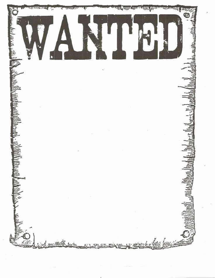 Wanted Poster Template Free Fresh Free Wanted Poster Template Google Search