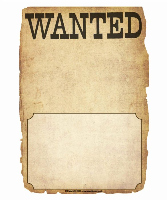 Wanted Poster Template Free Fresh Wanted Poster Template 34 Free Printable Word Psd