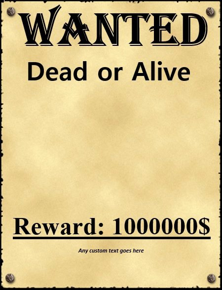 Wanted Poster Template Free Lovely 18 Free Wanted Poster Templates Fbi and Old West Free