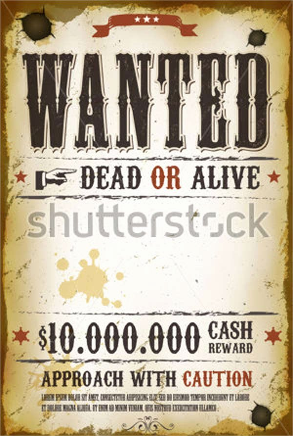 Wanted Poster Template Free New 18 Wanted Poster Design Templates In Psd