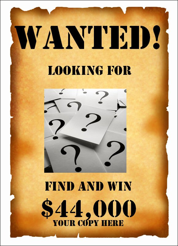Wanted Poster Template Free New 20 Free Wanted Poster Templates to Download