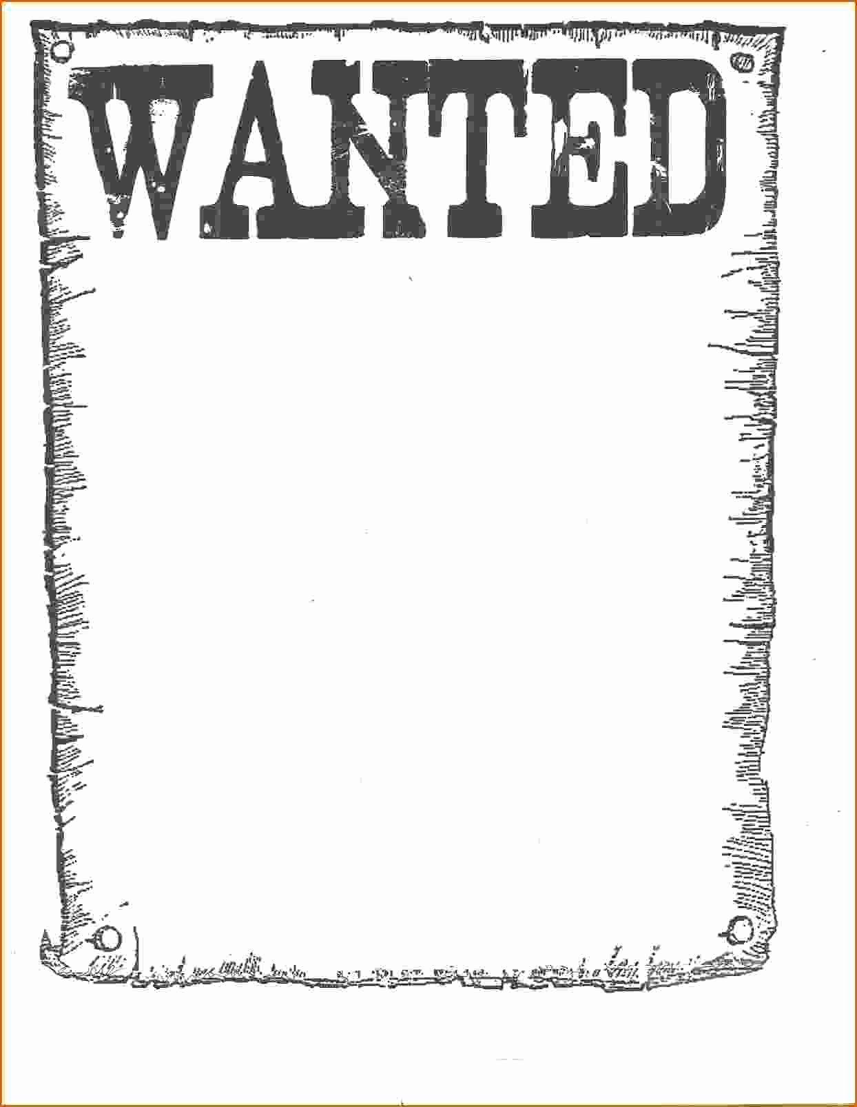 Wanted Poster Word Template Elegant 7 Wanted Poster Template Microsoft Word