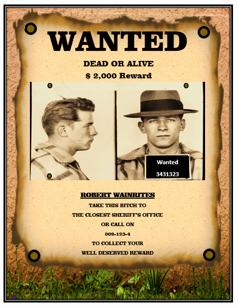 Wanted Poster Word Template Inspirational 13 Free Wanted Poster Templates Printable Docs