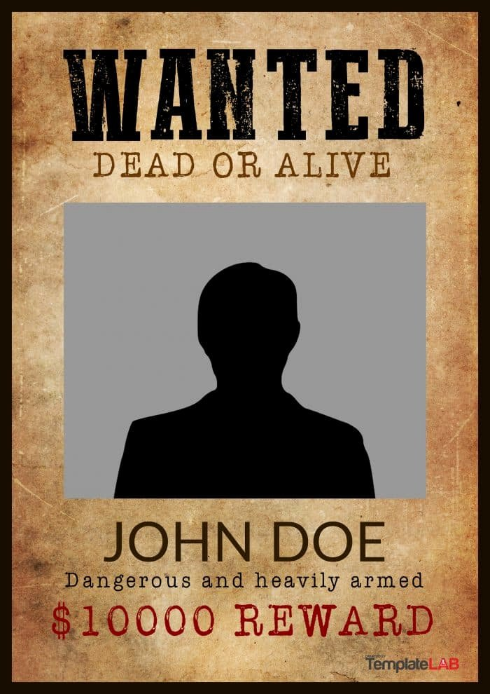 Wanted Poster Word Template Inspirational 29 Free Wanted Poster Templates Fbi and Old West