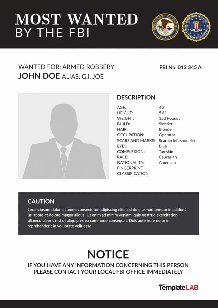 Wanted Poster Word Template Luxury 29 Free Wanted Poster Templates Fbi and Old West