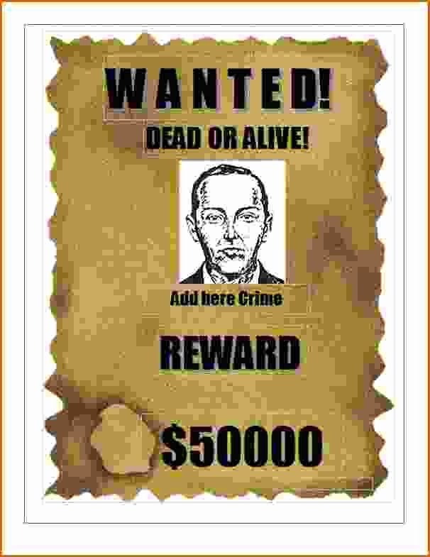 Wanted Poster Word Template Luxury 7 Wanted Poster Template Microsoft Word