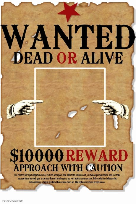 Wanted Poster Word Template Luxury Copy Of Wanted