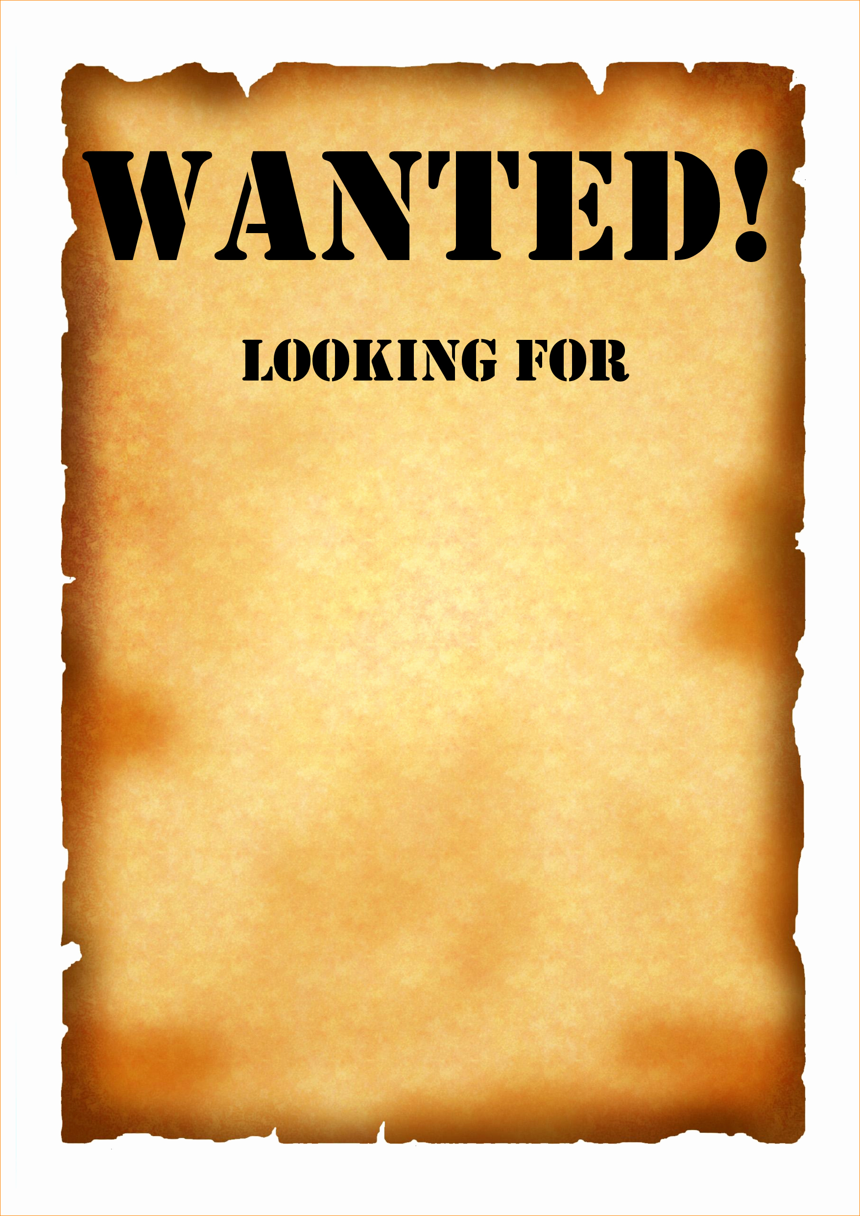 Wanted Poster Word Template New Wanted Poster Template
