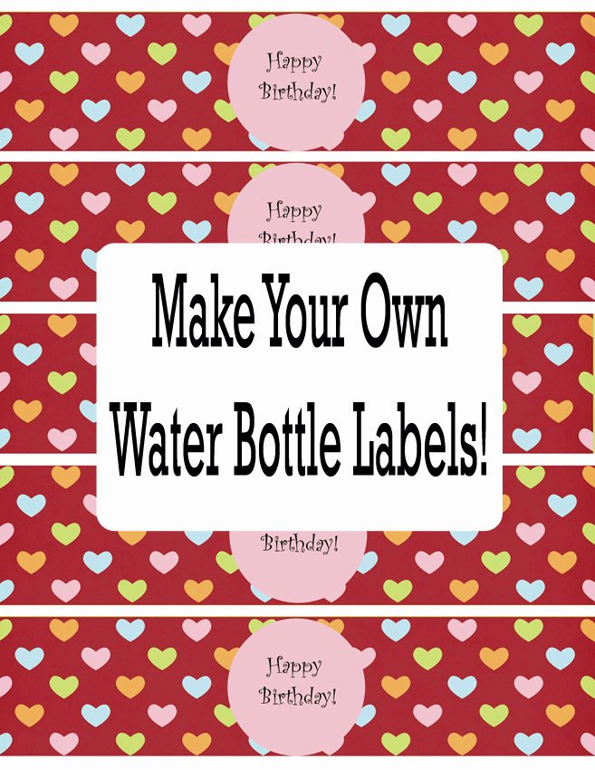 Water Bottle Label Template Awesome Water Bottle Labels Template