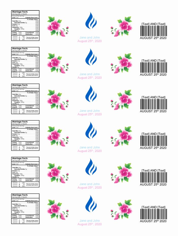 Water Bottle Label Template Beautiful Water Bottle Label Template Make Personalized Bottle Labels