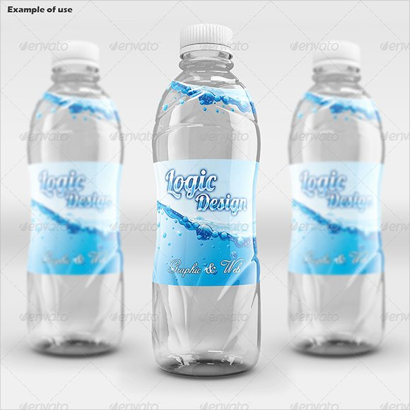 Water Bottle Label Template Unique 8 Water Bottle Label Templates – Free Samples Examples