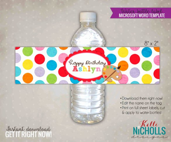 Water Bottle Labels Template Awesome Water Bottle Label Template – 29 Free Psd Eps Ai