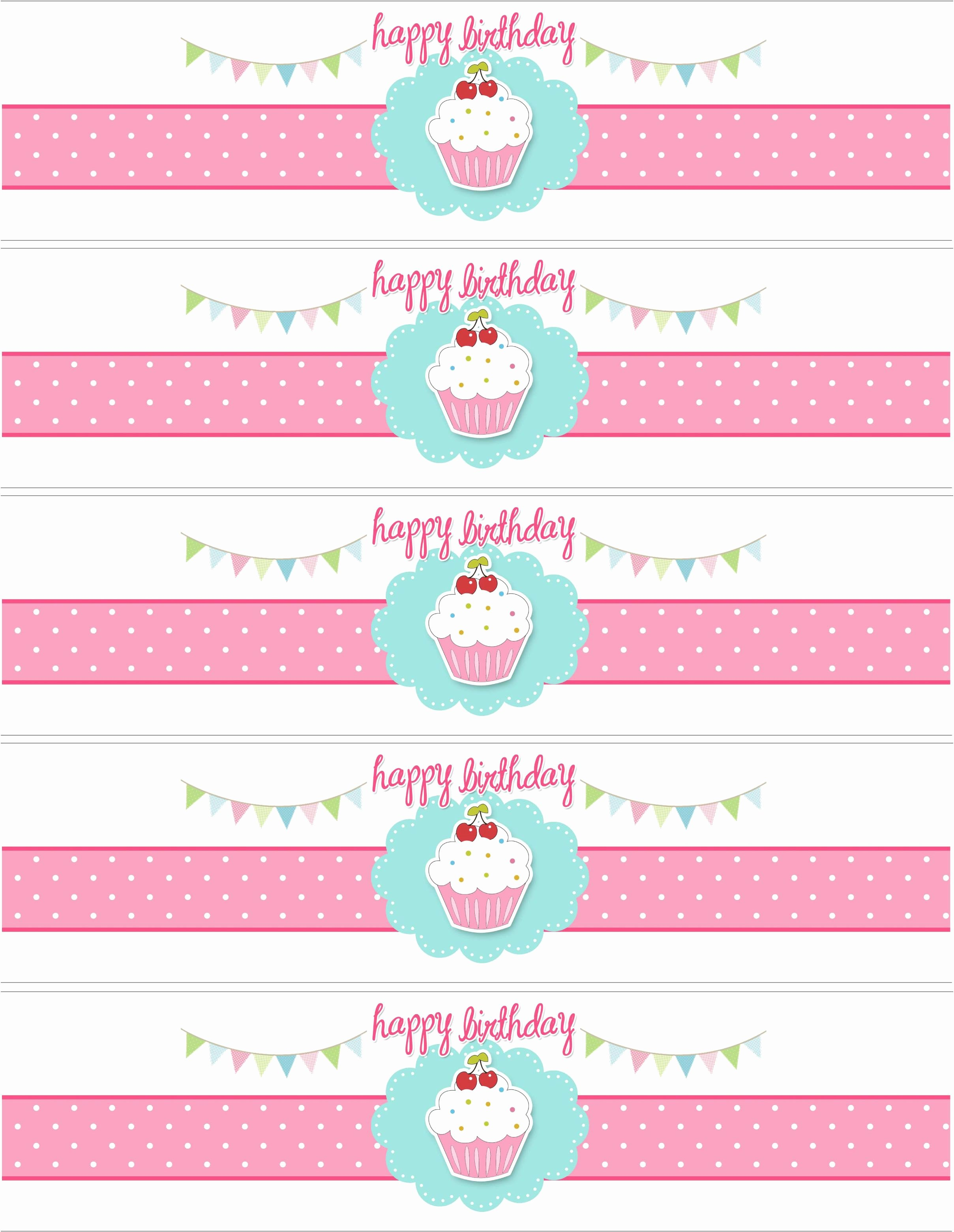 Water Bottle Labels Template Beautiful Cupcake themed Birthday Party with Free Printables