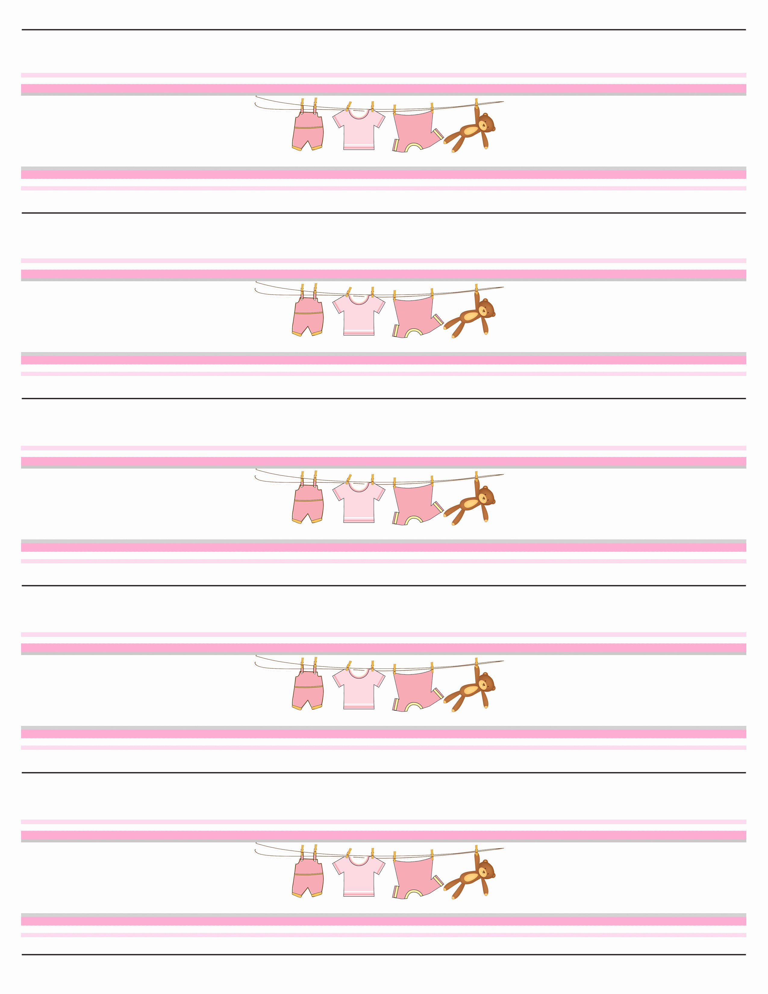 Water Bottle Labels Template Best Of Baby Girl Shower Free Printables How to Nest for Less™