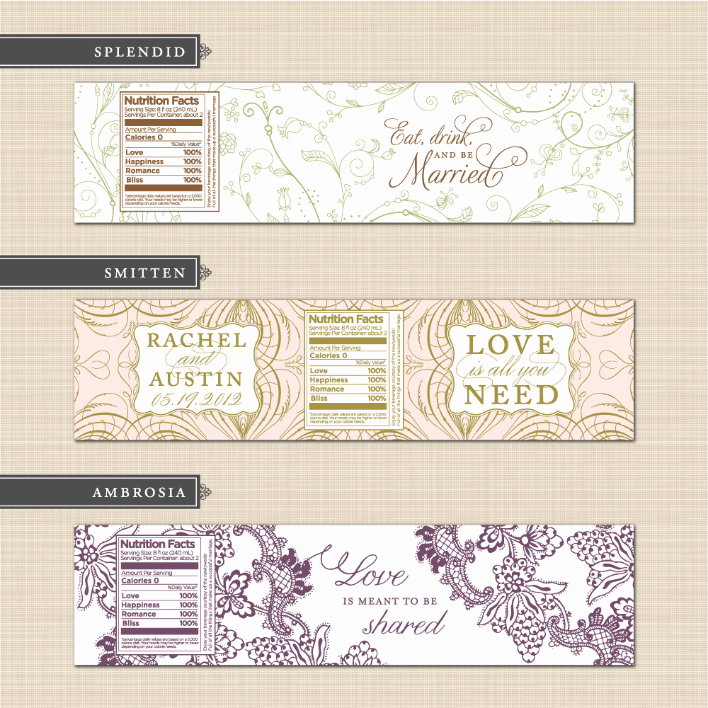 Water Bottle Labels Template Inspirational Belletristics Stationery Design and Inspiration for the