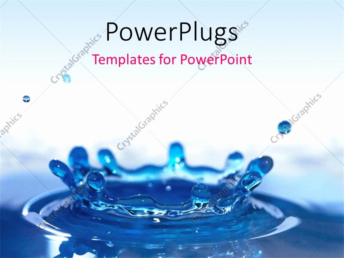 Water Power Point Template Beautiful Powerpoint Template Beautiful Blue Water Drop Splash