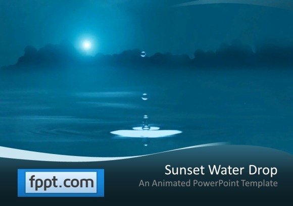 Water Power Point Template Elegant Animated Audio Speakers for Powerpoint Presentations