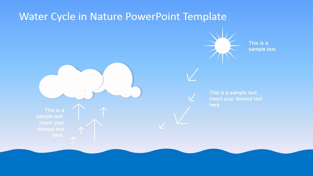Water Power Point Template Elegant Water Cycle Powerpoint Template Slidemodel