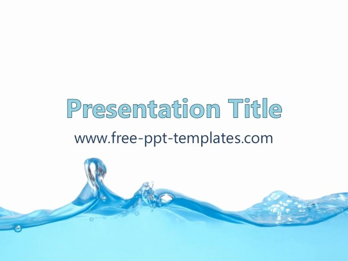 Water Power Point Template Elegant Water Ppt Template