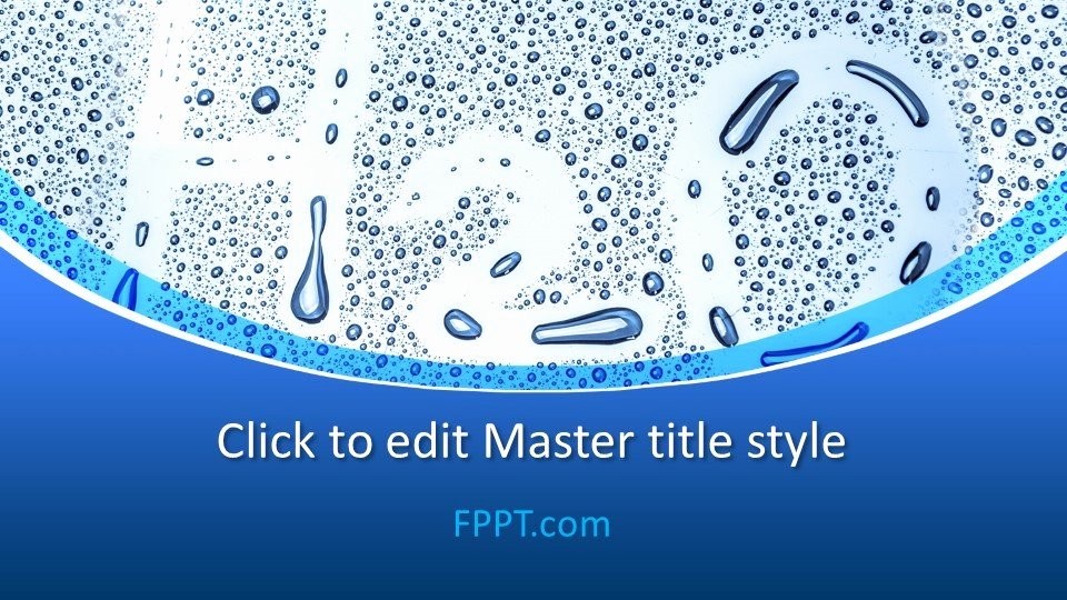 Water Power Point Template Fresh Free Water H2o Powerpoint Template Free Powerpoint Templates