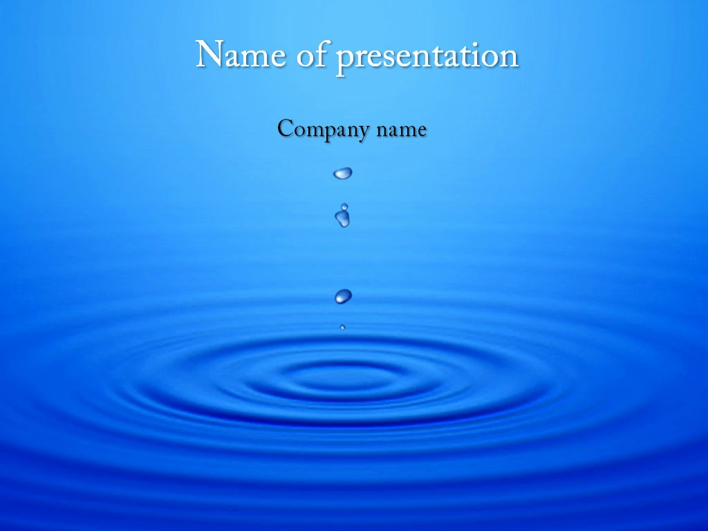 Water Power Point Template Luxury Dripping Water Powerpoint Template for Impressive