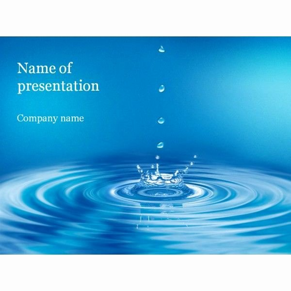 Water Power Point Template Luxury Powerpoint Background themes