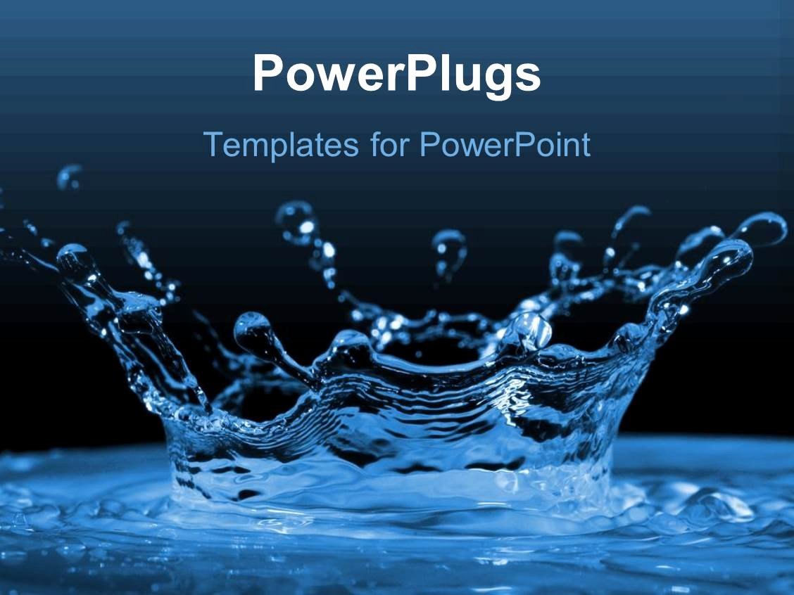 Water Power Point Template Luxury Powerpoint Template Water Ripples and Water Drops