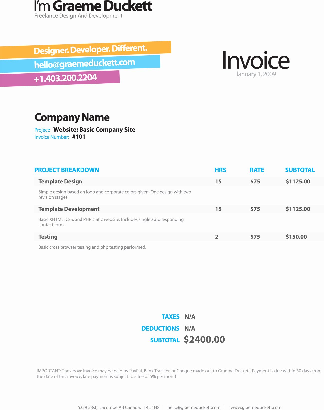 Web Design Invoice Template Best Of Invoice Thank You Message Example
