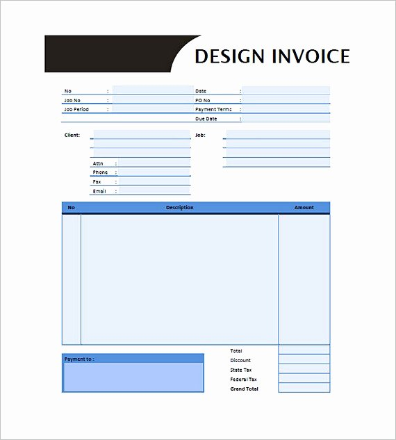 Web Design Invoice Template Fresh Graphic Design Invoice Template