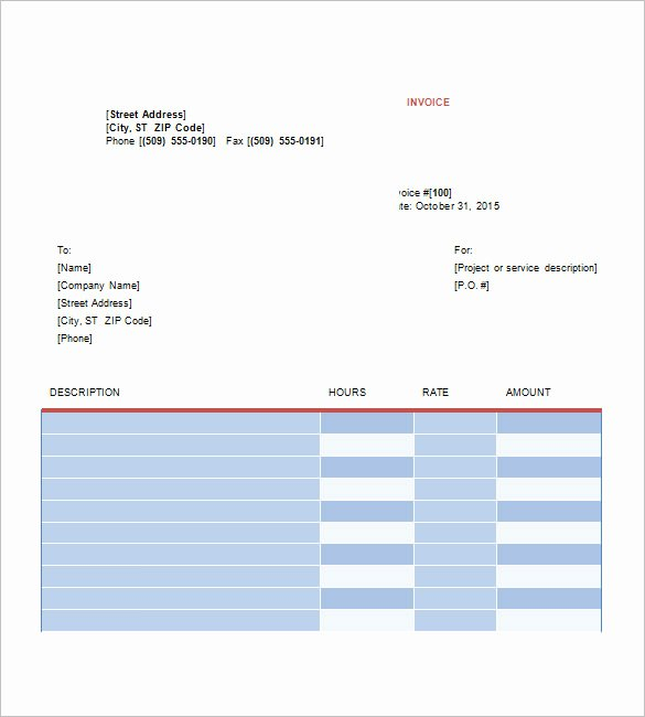 Web Design Invoice Template Inspirational Graphic Design Invoice Template 13 Free Word Excel