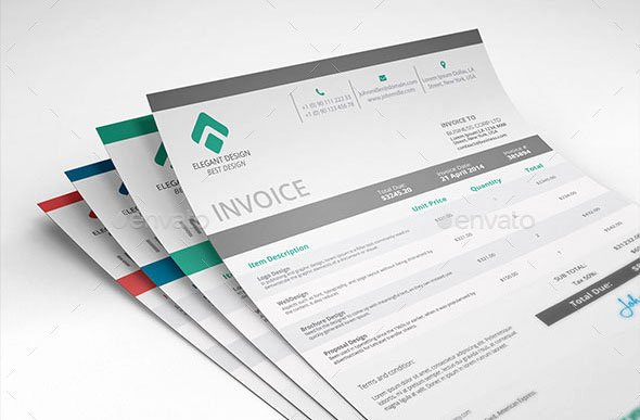 Web Design Invoice Template Luxury 37 Best Psd Invoice Templates for Freelancer