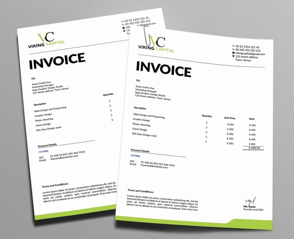 Web Design Invoice Template Unique Graphic Design Invoice
