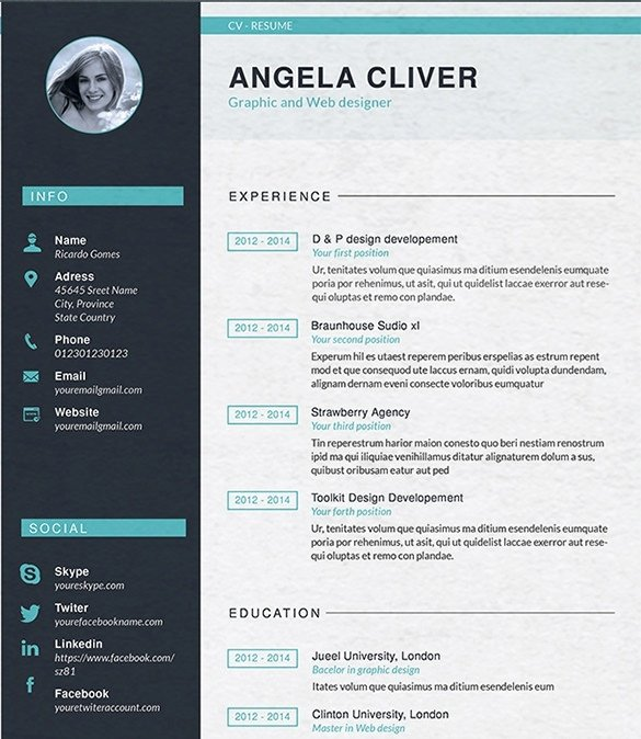 Web Developer Resume Template Inspirational Web Designer Resume Template