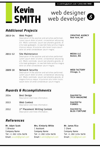 Web Developer Resume Template Luxury Web Designer Resume Template Trendy Resumes