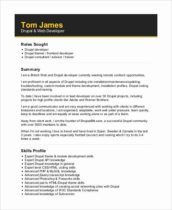 Web Developer Resume Template Unique Web Developer Skills Resume 7 Skills Every Web Developer