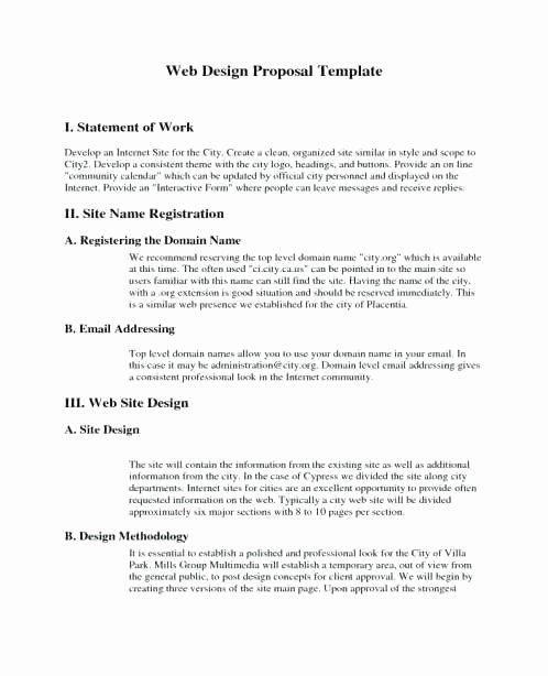 Web Development Proposal Template Awesome Web Development Proposal Sample Awesome Website Redesign