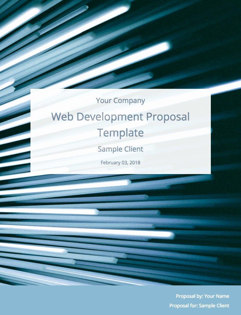 Web Development Proposal Template Awesome Web Development Proposal Template Free Sample